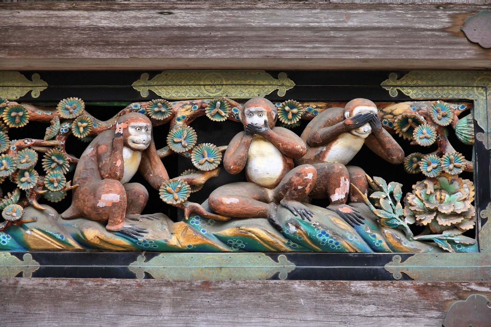 Wise Monkeys in Nikko, Japan