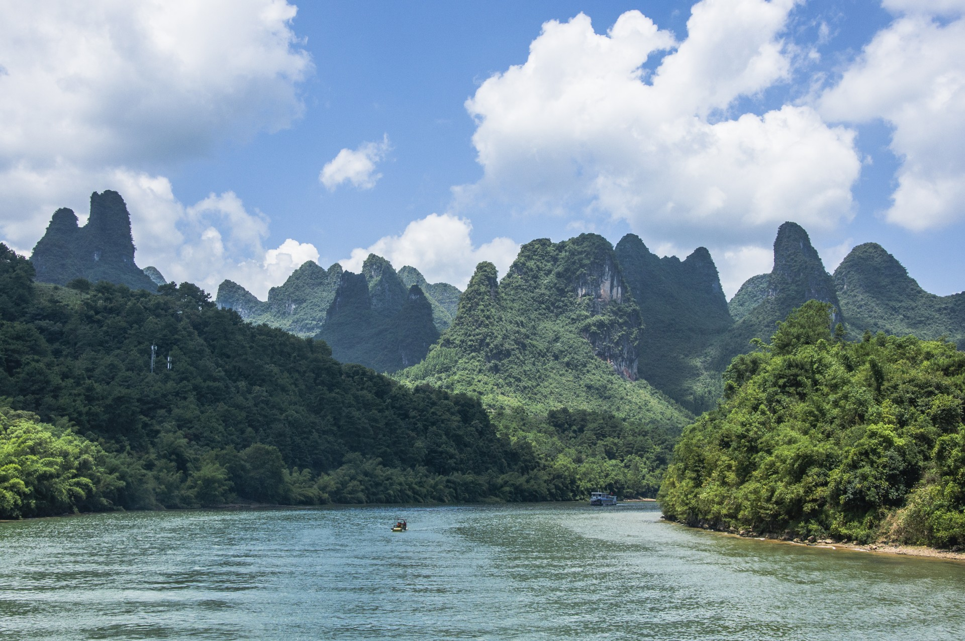 View of Li River in Guilin, China