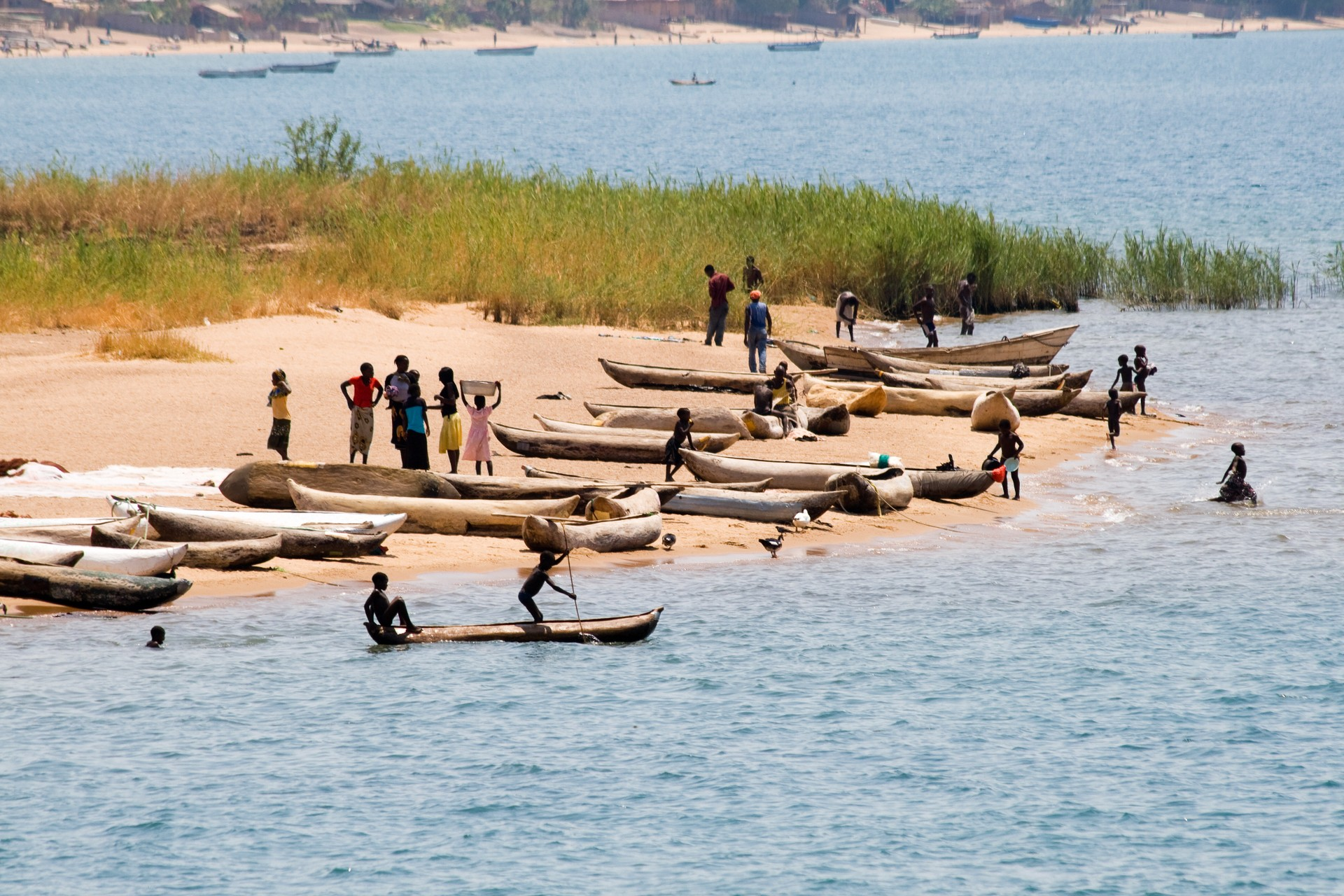 Fishing boats on Lake Malawi