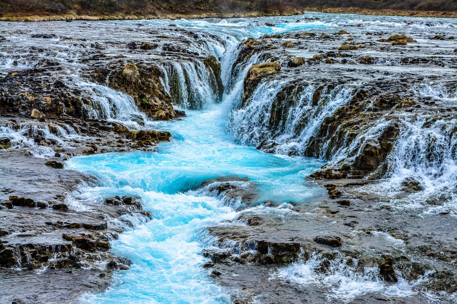 Brúarfoss, Iceland's bluest waterfall