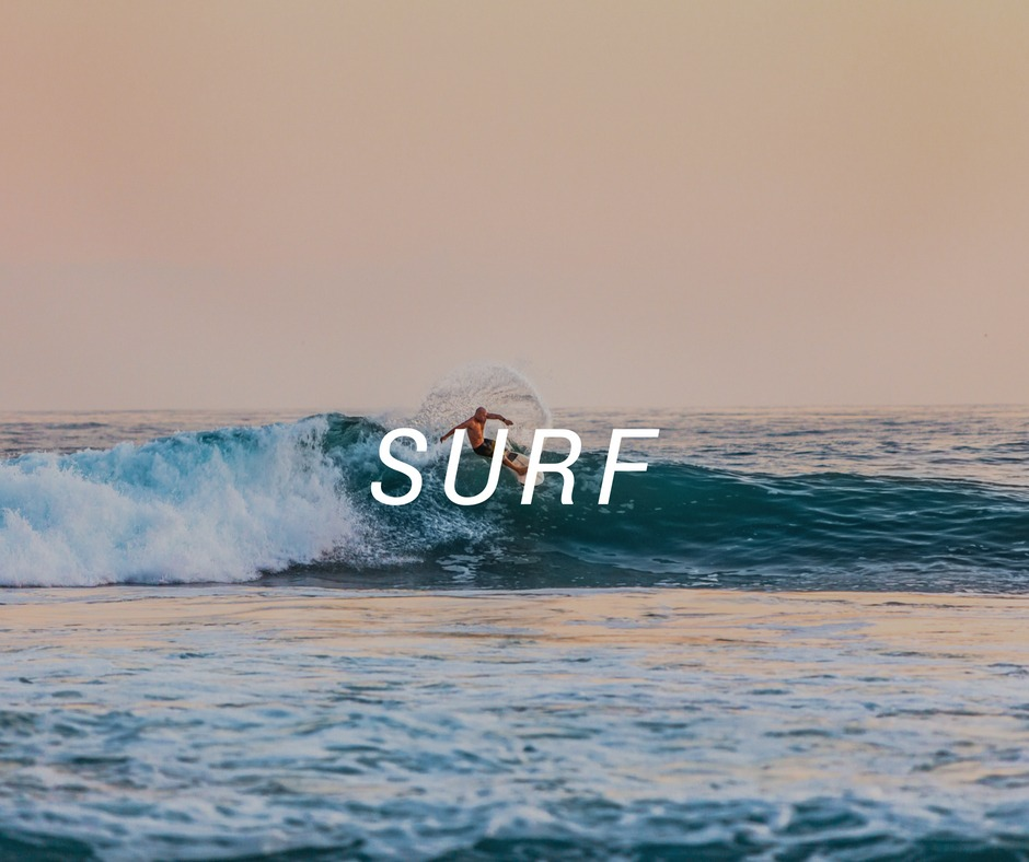 Travel destinations for Surf