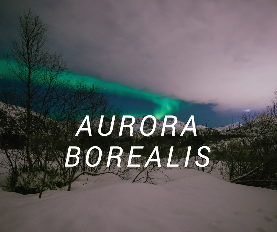 Travel destinatios with Aurora Borealis
