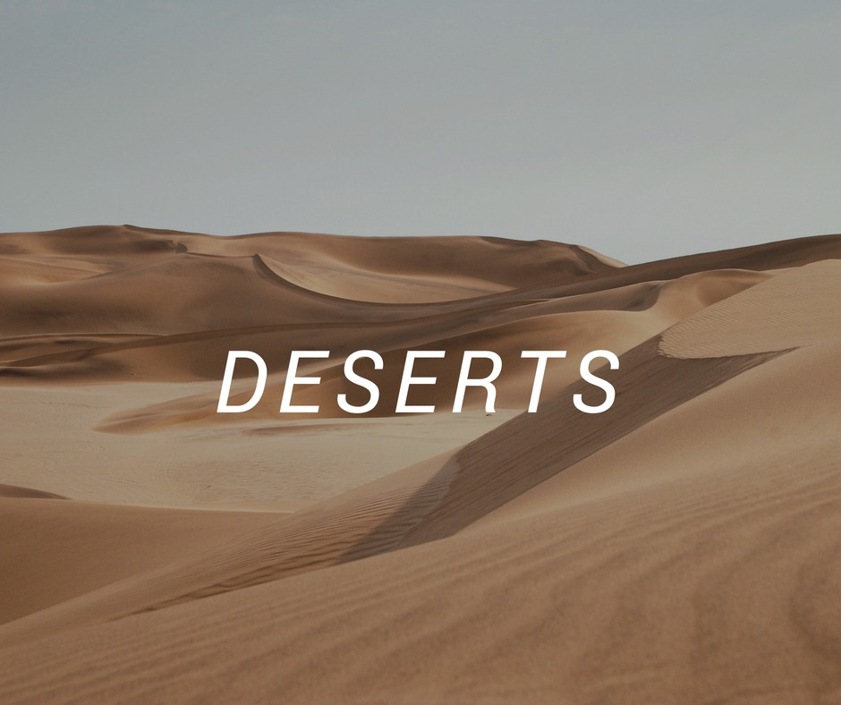 Travel destinations with deserts