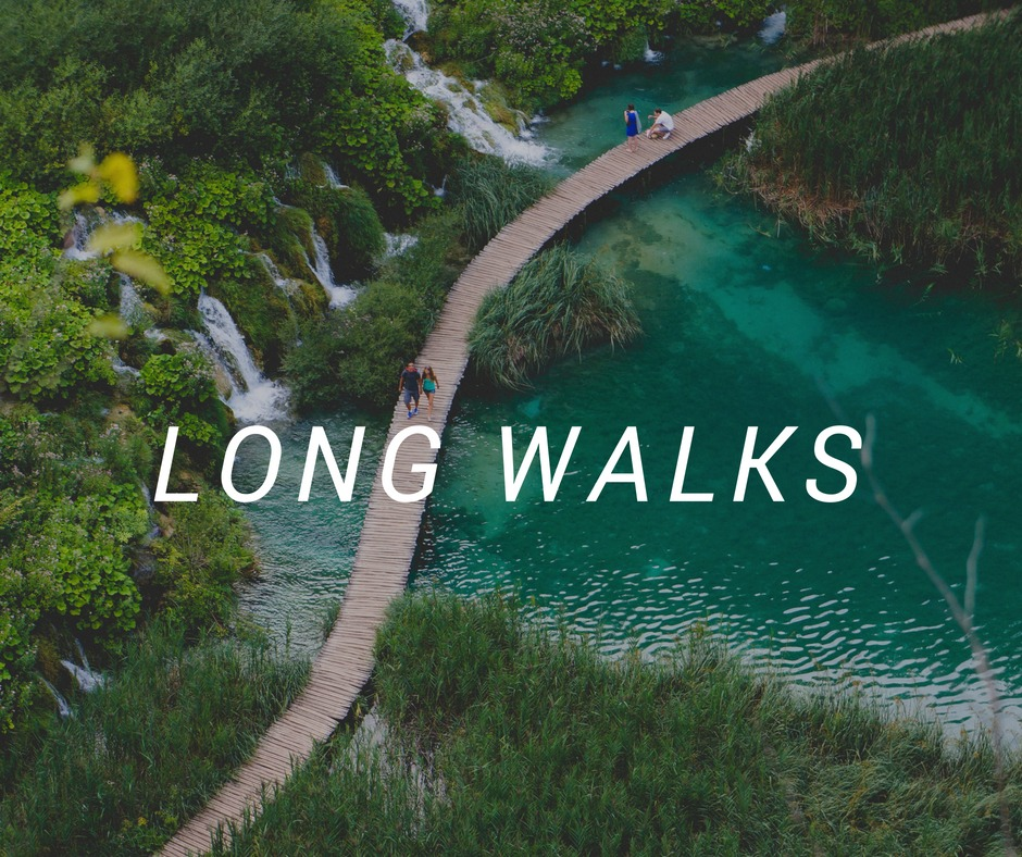 Travel destinations for long walks