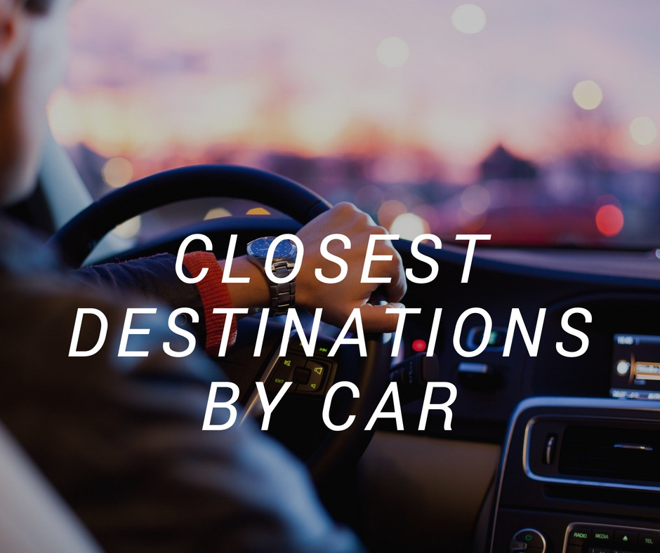 Shopping destinations closest to you by car