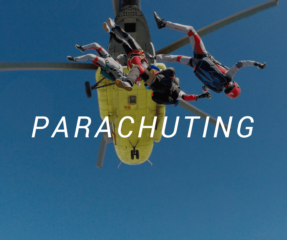 Travel destinations for parachuting