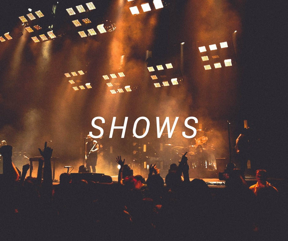 Travel destinations for shows