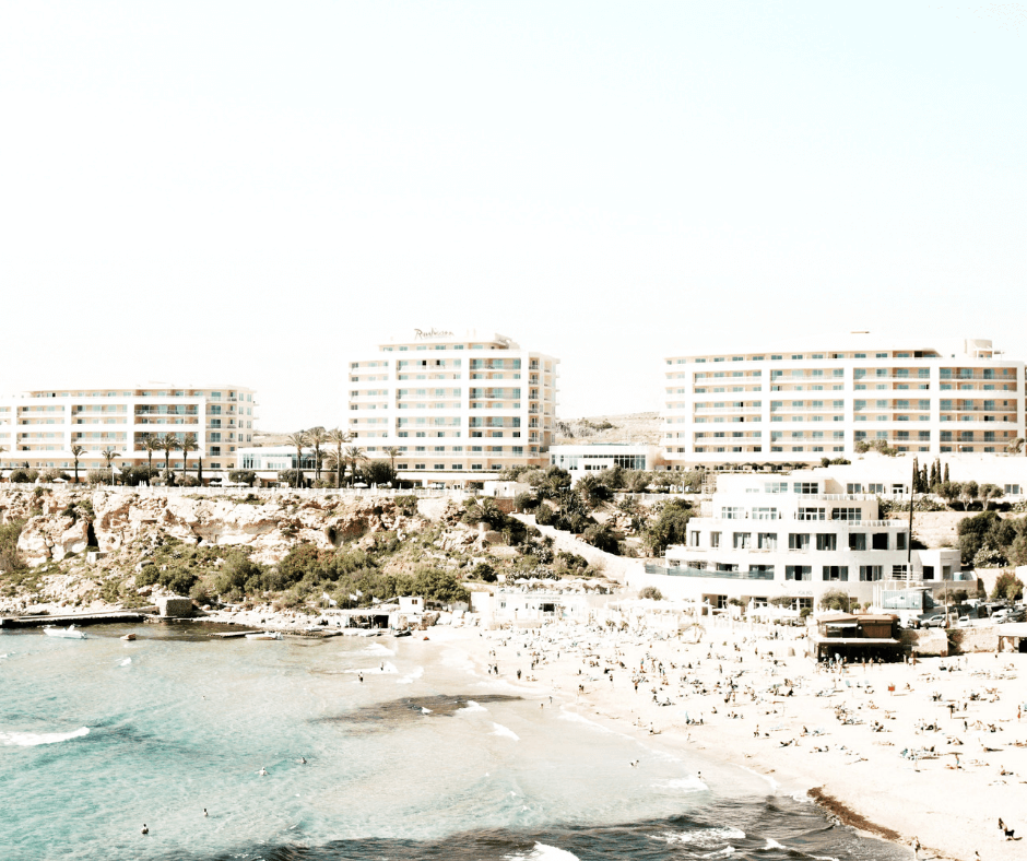 Golden Bay Beach, Mellieha, Malta