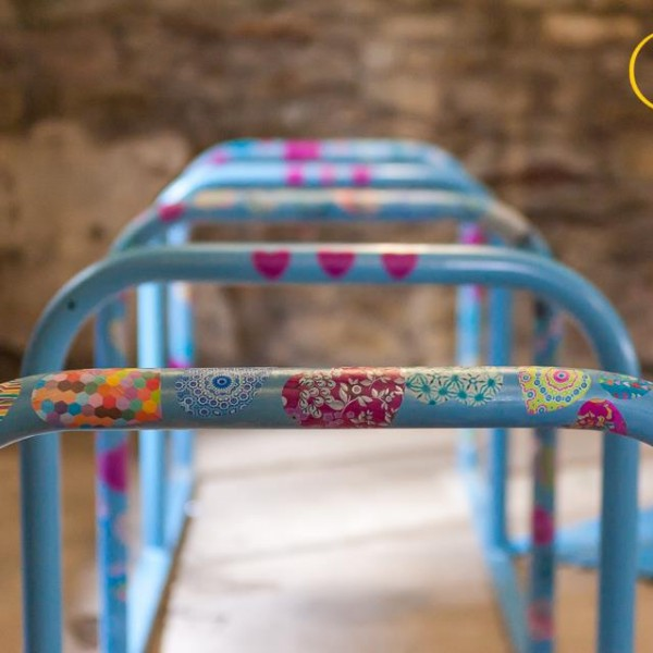 Image: Decorated cycle stands
