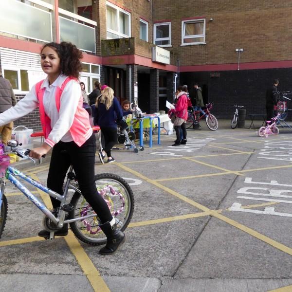 Image: Littlecross - girl on bike