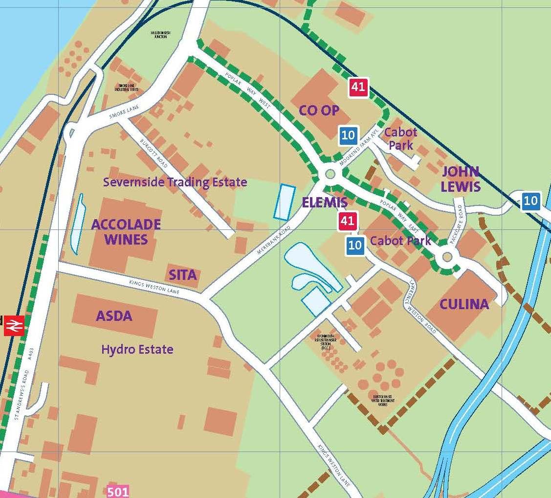 Cribbs Causeway Map Cabot Park   Travelwest