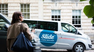 Thumbnail image for Bristol-based ride-to-work microtransit service Slide to close down on 21st December 2018