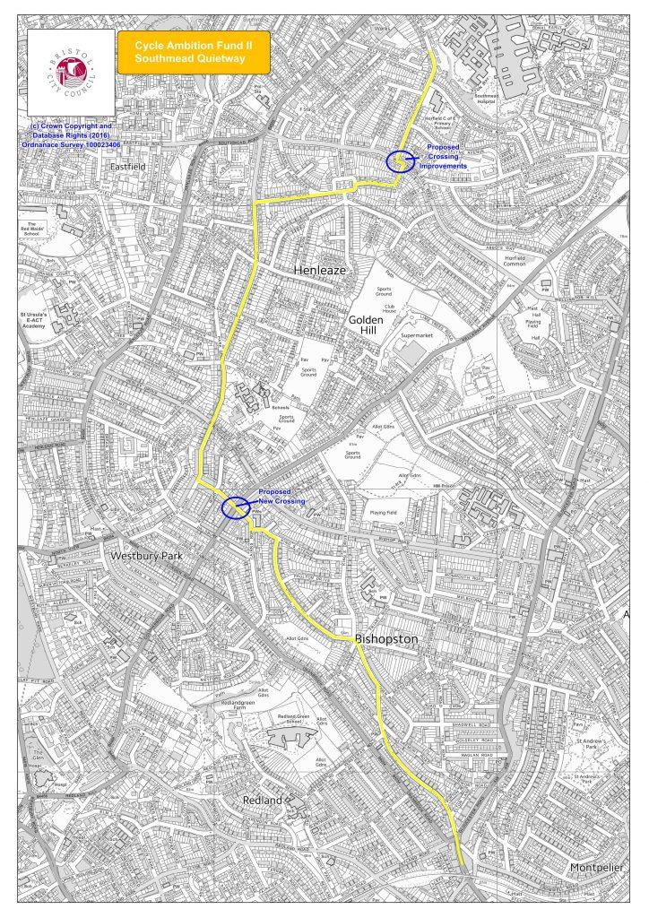 Southmead Quietway proposal