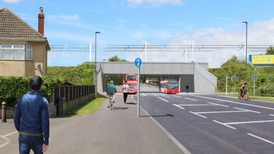 Thumbnail image for Gipsy Patch Lane roadworks mark start of Cribbs Patchway metrobus extension