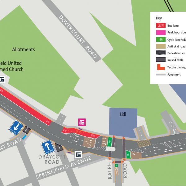 Image: Muller Road Consultation: Area 2: Downend Road to railway bridge