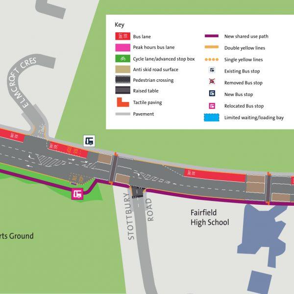 Image: Muller Road Consultation: Area 3: Railway bridge to Dormer Road