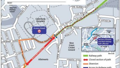 Thumbnail image for Bristol and Bath Railway Path – temporary closure between Gordon Rd – Bruce Rd