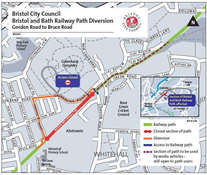 Railway path diversion map - February 2019