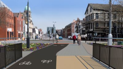 Thumbnail image for Walking and cycling improvements begin on Old Market Roundabout