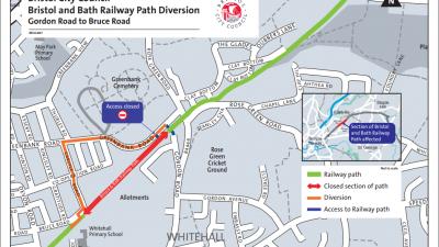 Thumbnail image for Bristol and Bath Railway Path Temporary Closure June 2019