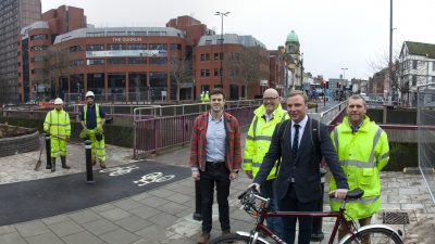 Thumbnail image for Improved walking and cycling route completed ahead of time in Old Market