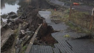 Thumbnail image for Update: Cumberland Road closed after wall collapse