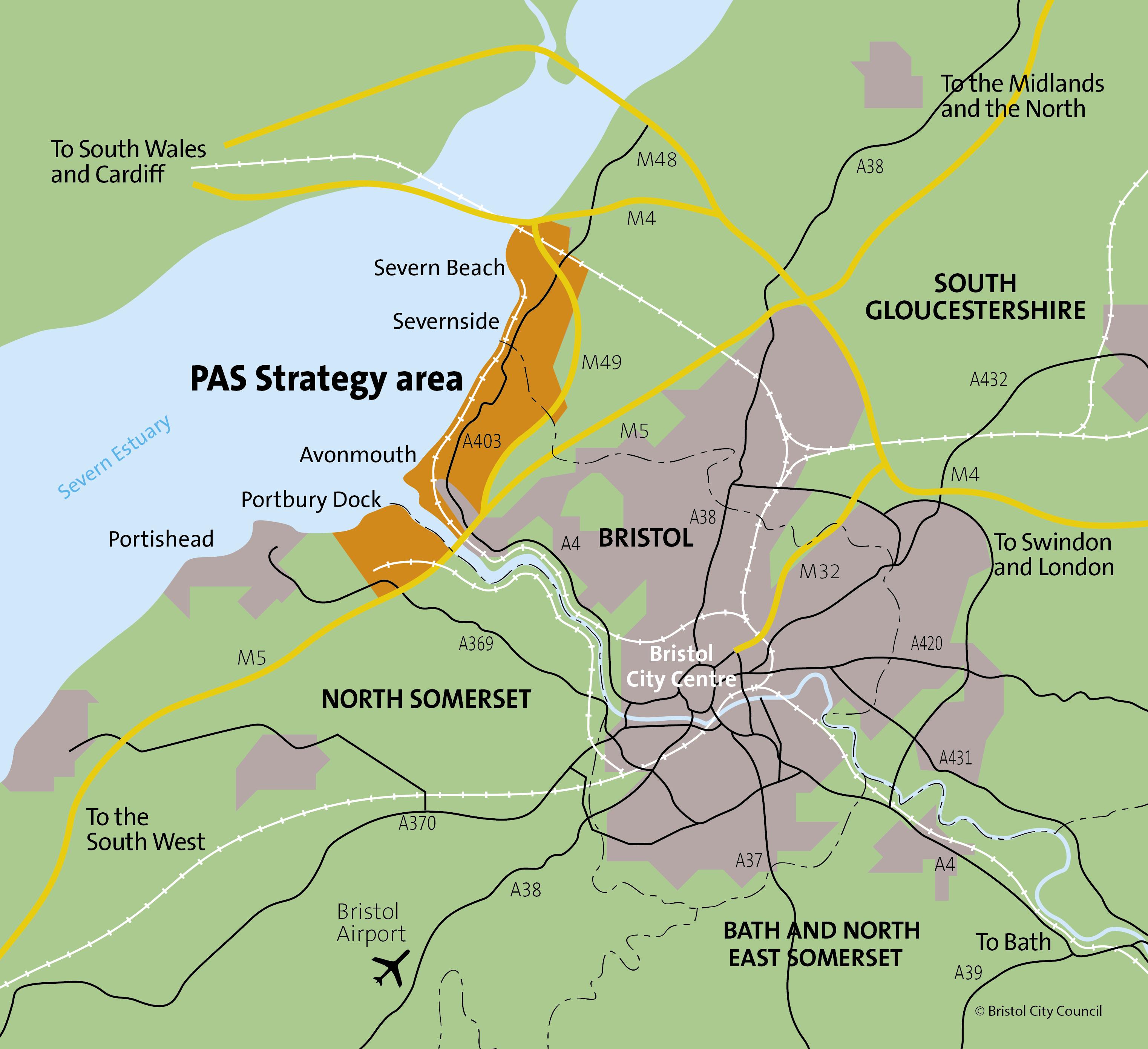 Portbury Avonmouth Severnside Severnside Map