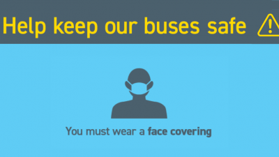 Thumbnail image for Call on passengers to wear face coverings on-board buses to help get the region moving again