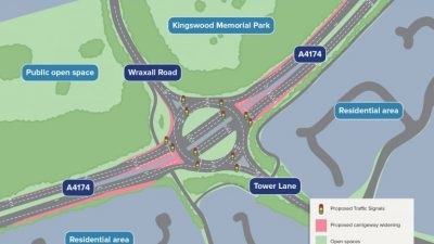 Thumbnail image for Work set to start on major overhaul of Wraxall Road roundabout on A4174 ring road