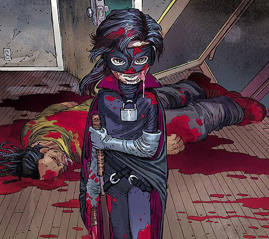 Hit-Girl en plena carnisseria