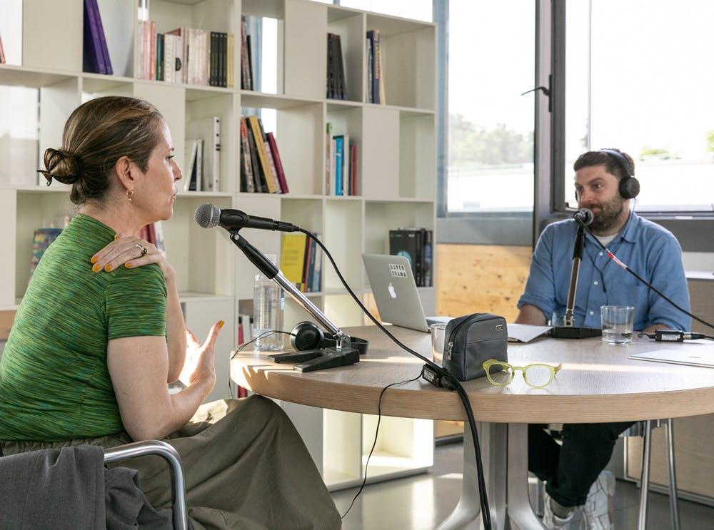 Paola Antonelli with David Plaisant