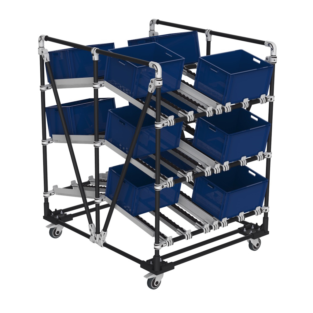 Box dual picking trolley