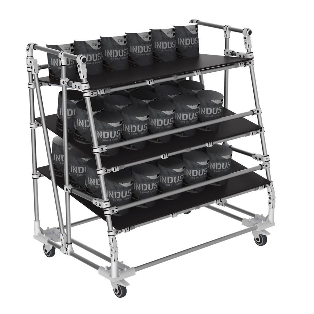 Order preparation picking trolley