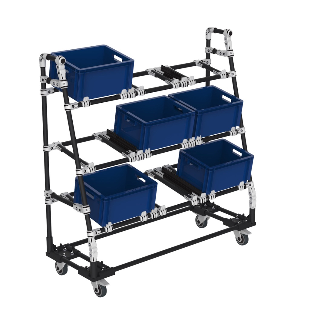 Flexible picking box cart