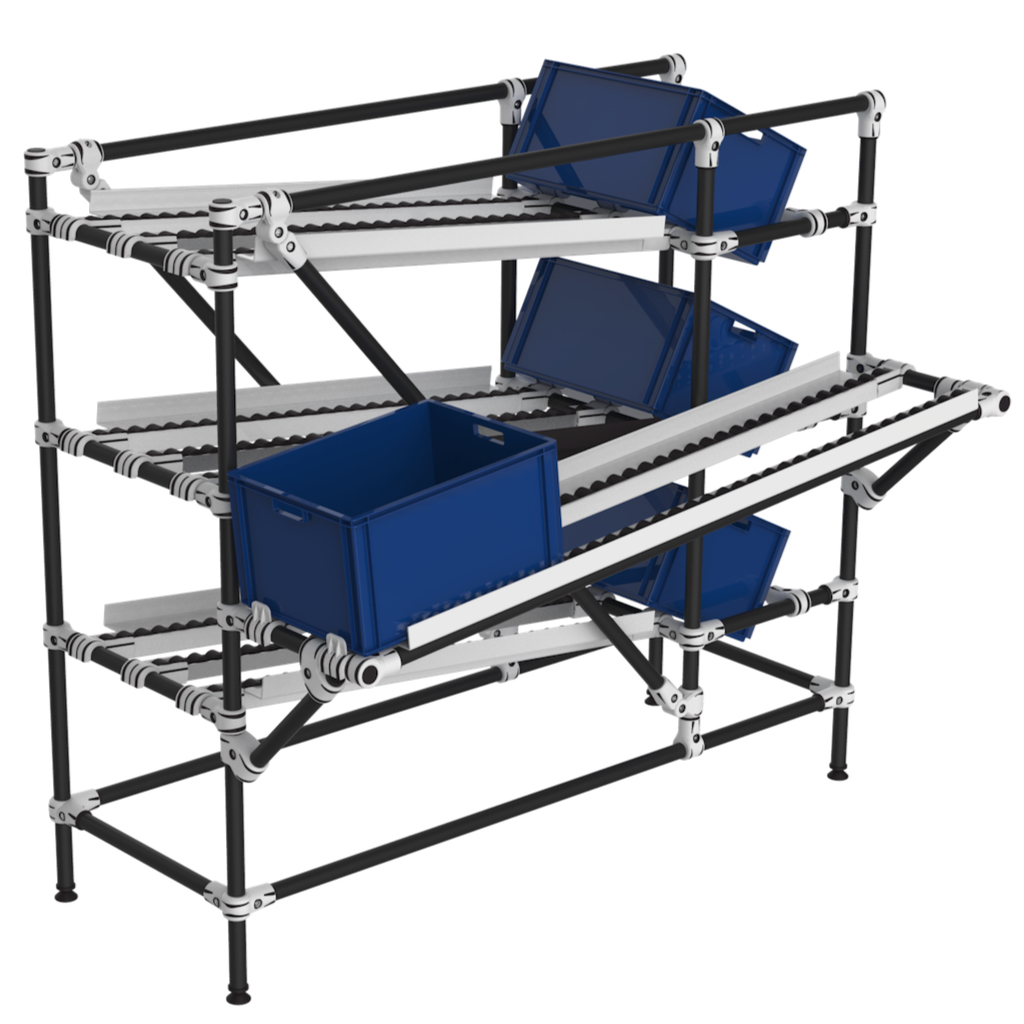 Line side picking flow rack