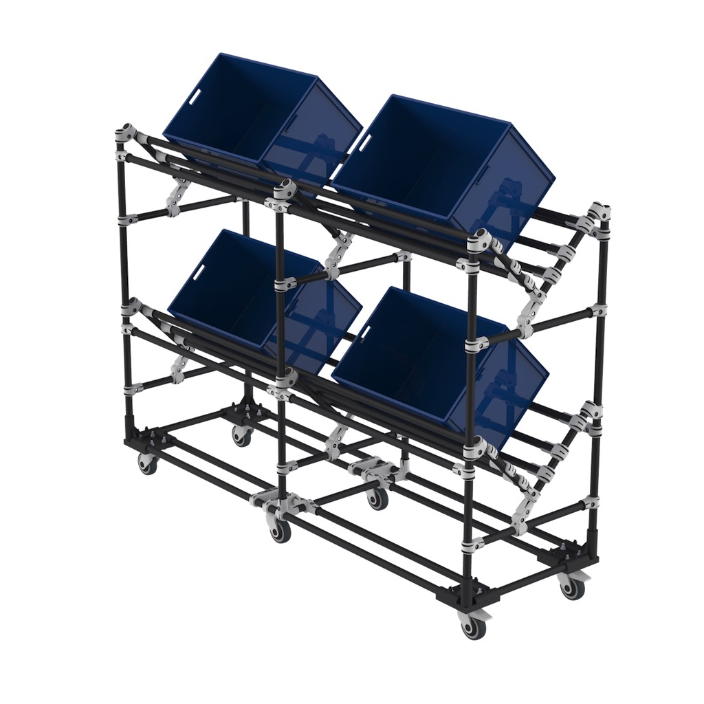 Plastic bin picking trolley