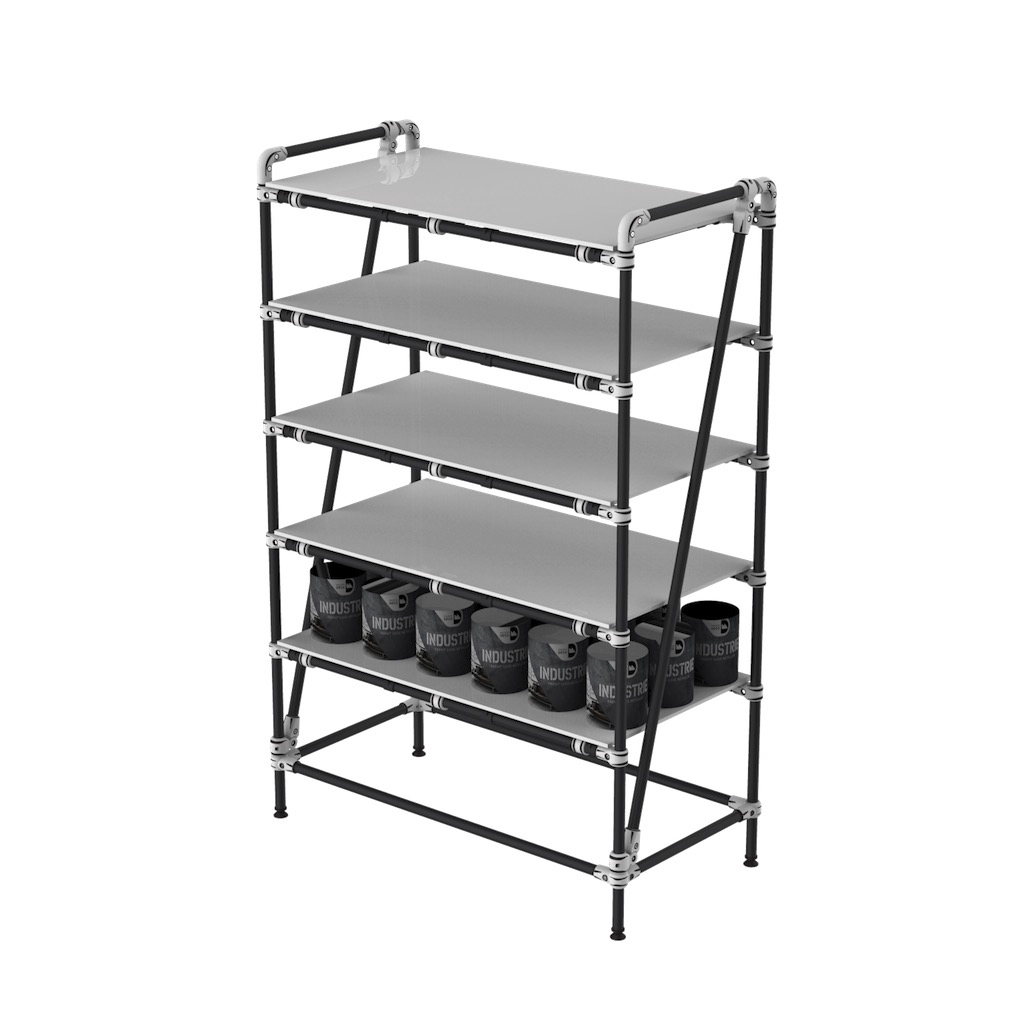 Warehouse kitting shelf