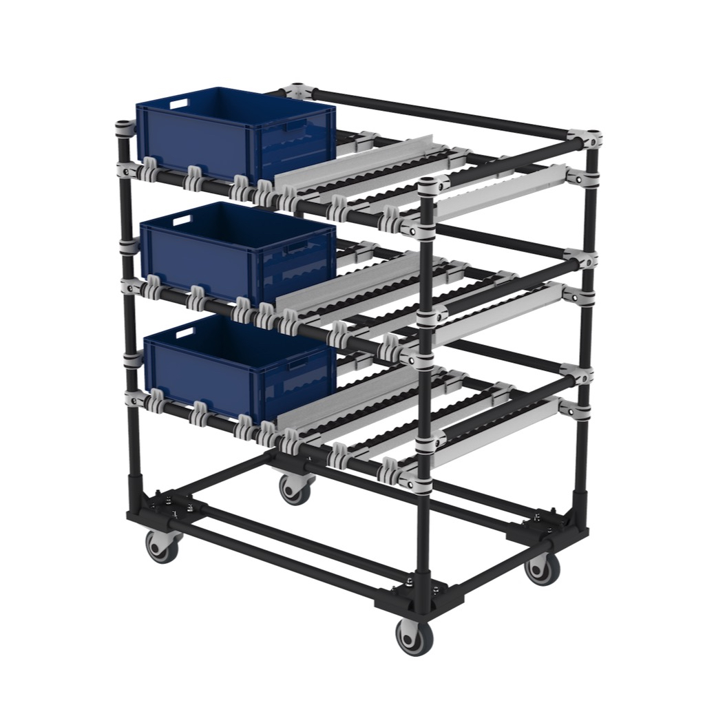 FIFO kitting Cart