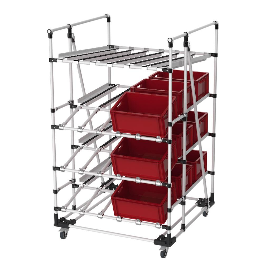 Dynamic picking rack