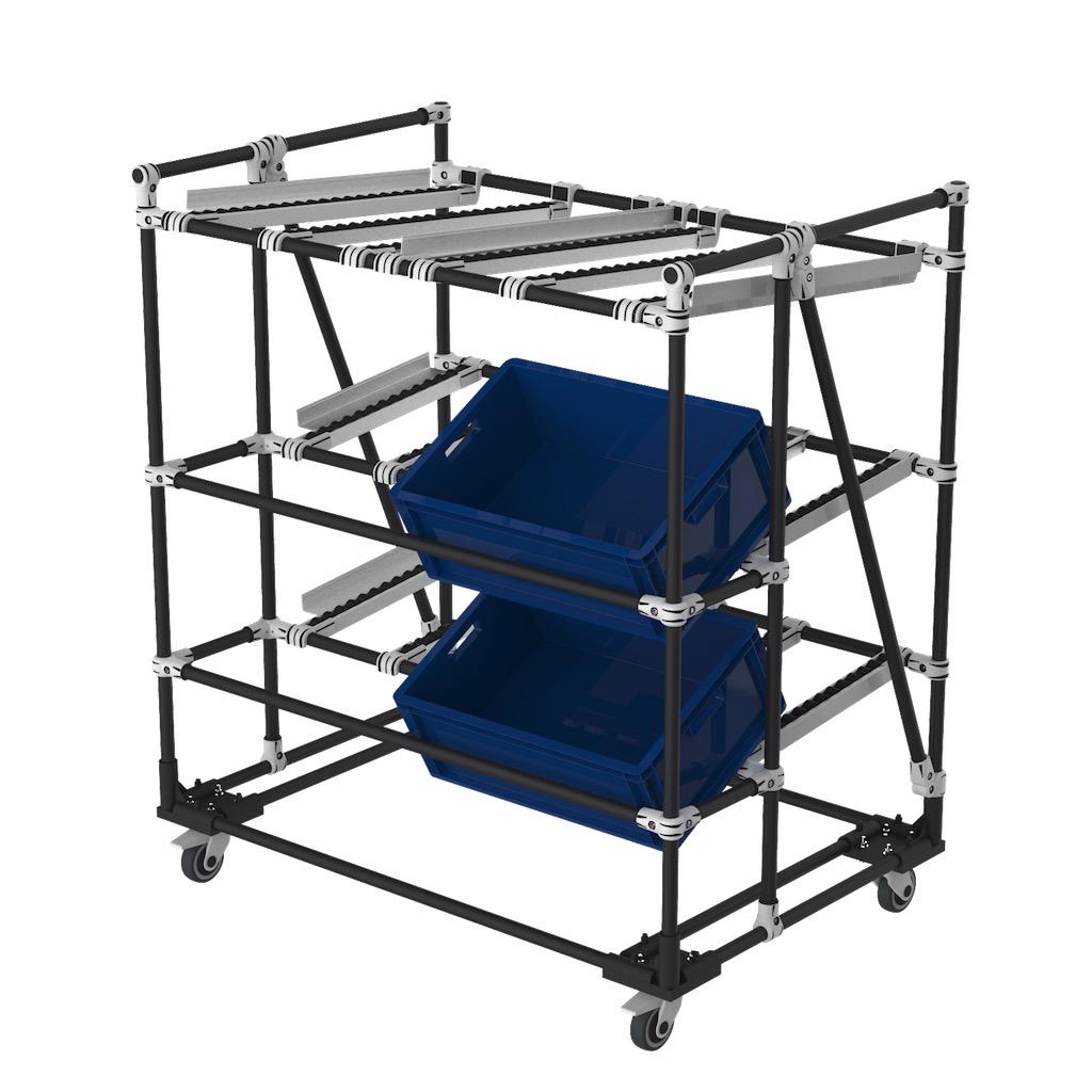 Live storage picking rack