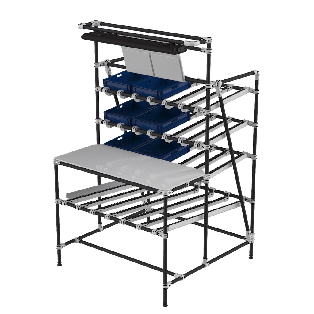 Workstation flow rack