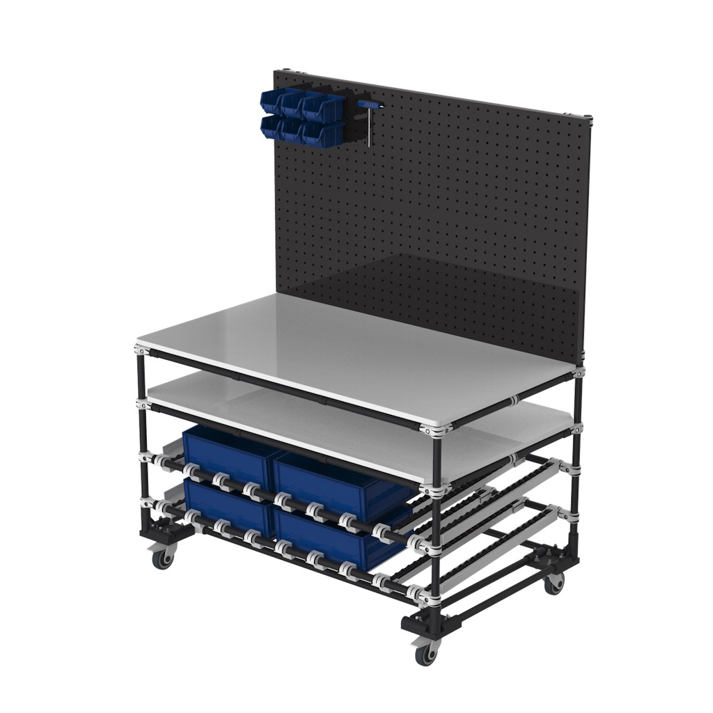 Mobile assembly workbench