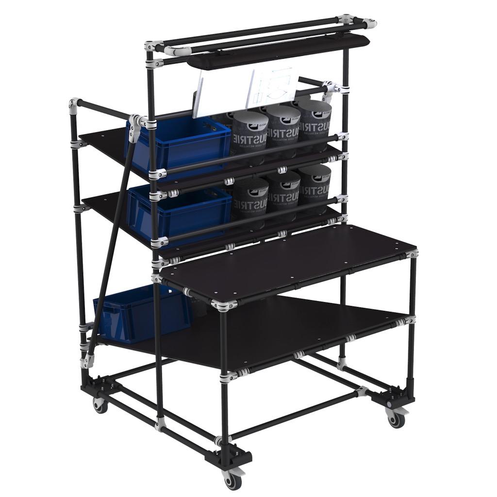E-commerce packaging cart