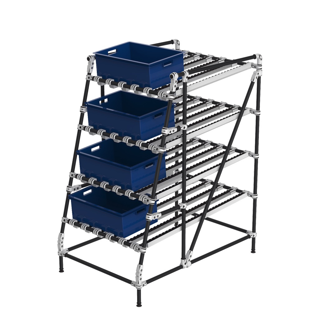 Ergonomic gravity live storage