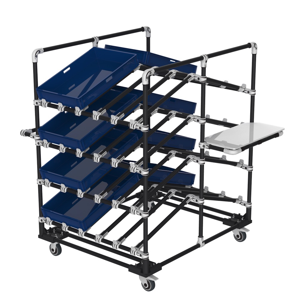 Double side box cart