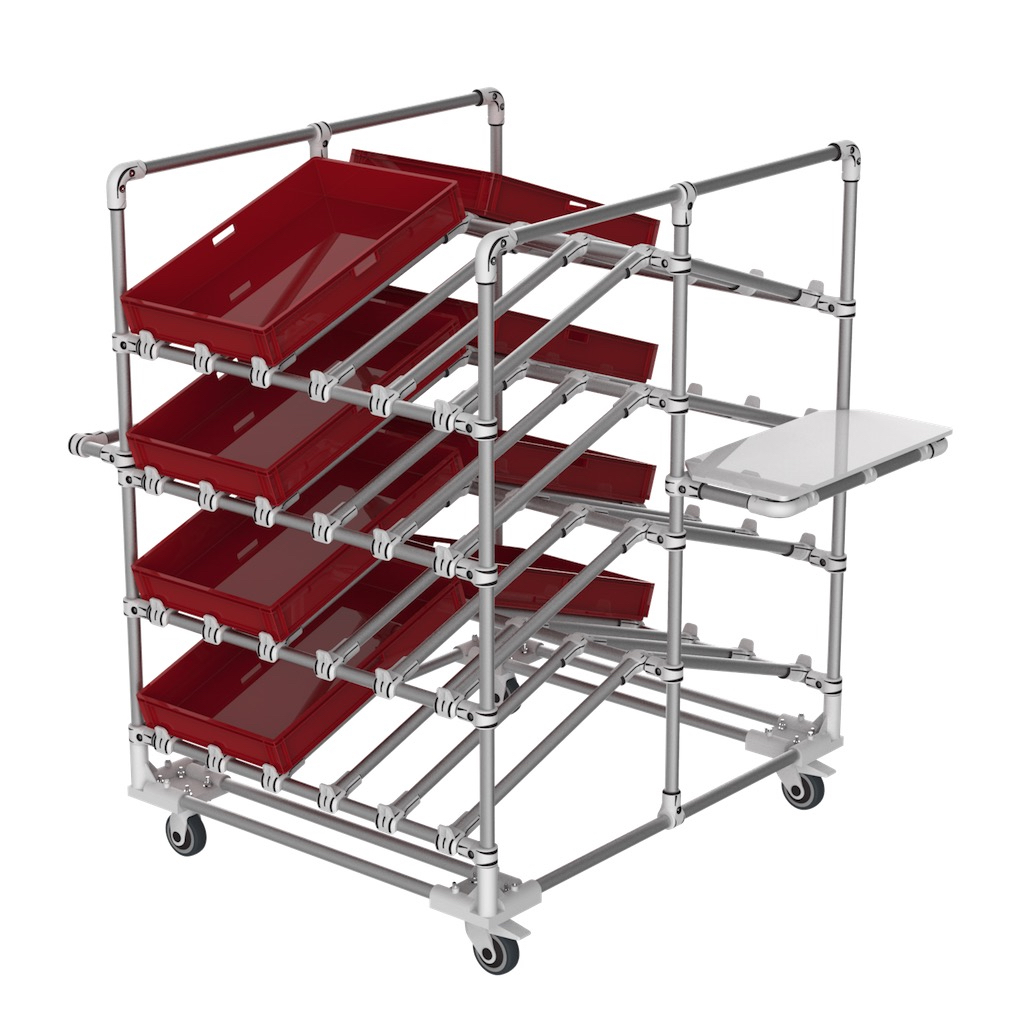 Double side box trolley