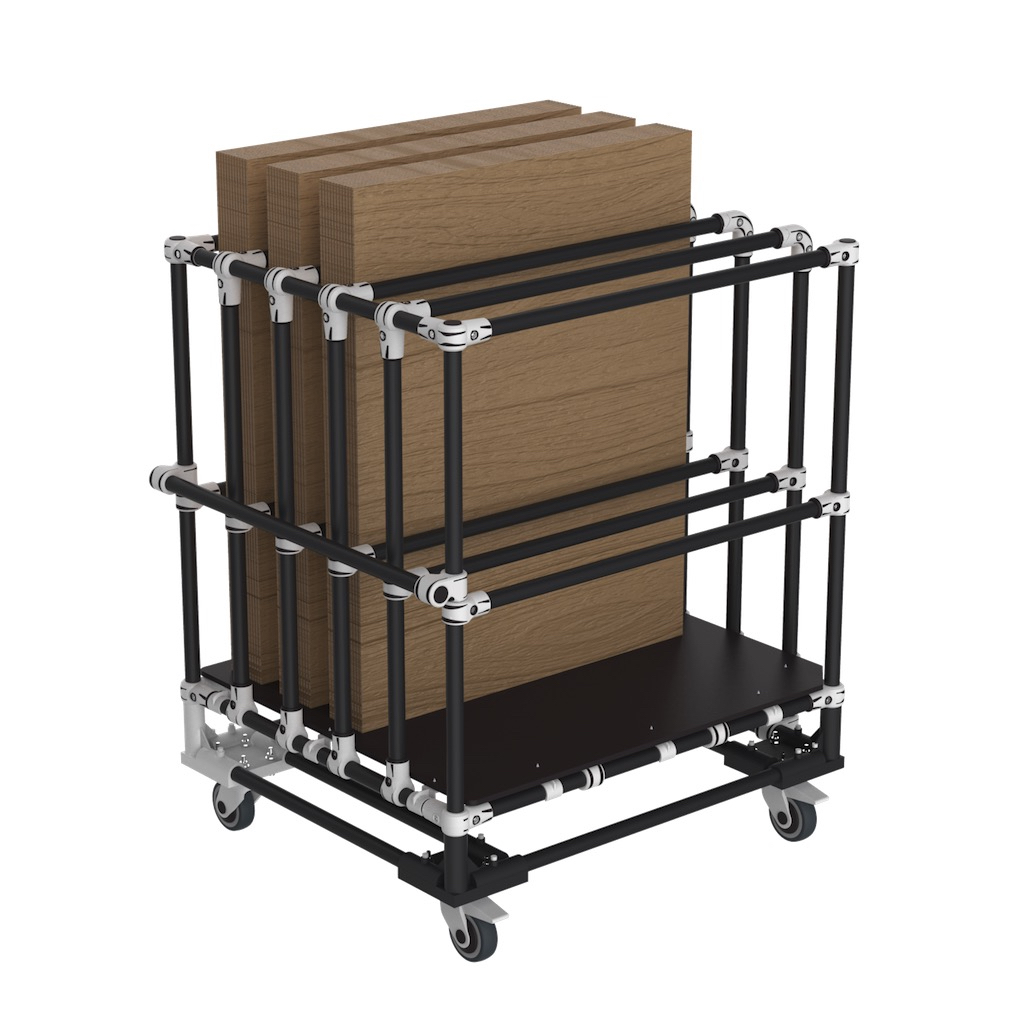 Vertical storage cart