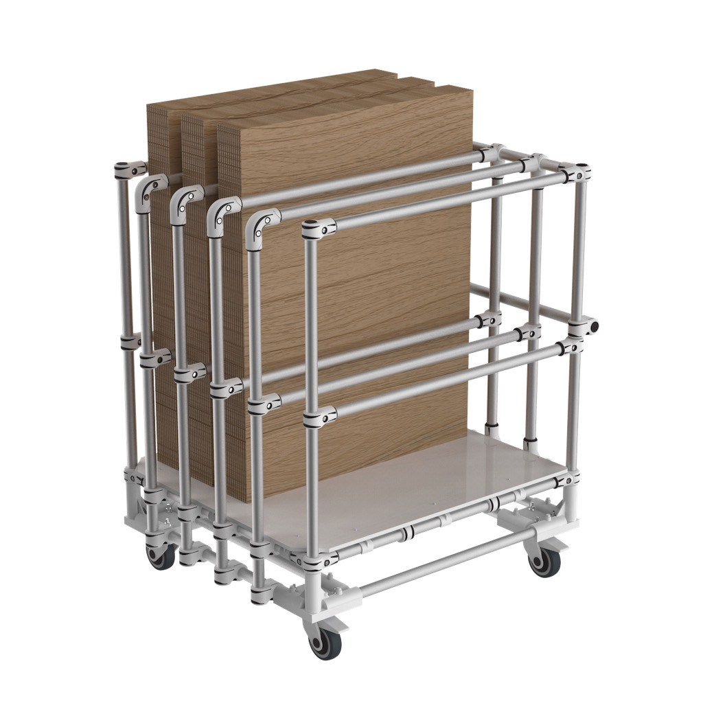Vertical storage trolley