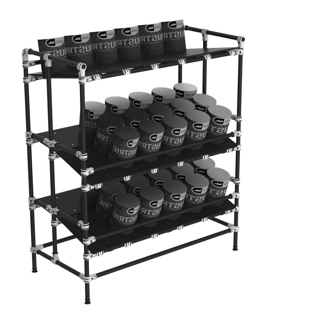Ergonomic Kaizen shelf