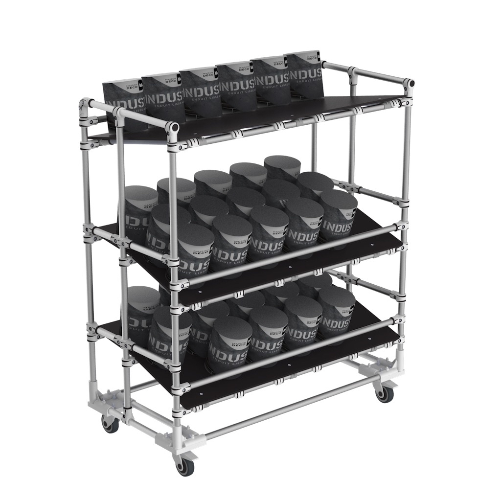 Ergonomic lean manufacturing cart